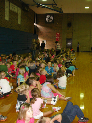 By days end, more than 600 schoolchildren gathered in the gym.
