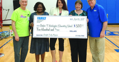Writing contest check presentation